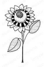 Impression Obsession Fall Sunflower - Cling Stamp