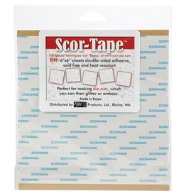 Scor-Pal Products, Ltd. Scor-Tape Double Sided Adhesive Sheets 6""