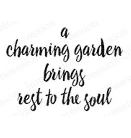 Impression Obsession Charming Garden - Cling Stamp