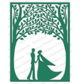 Impression Obsession Bride and Groom Frame - Die