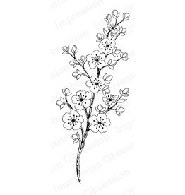 Impression Obsession Cherry Blossom Stem - Cling Stamp