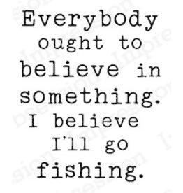 Impression Obsession Believe in Fishing - Cling Stamp