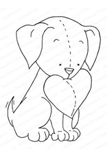 Impression Obsession Valentine Pup - Cling Stamp