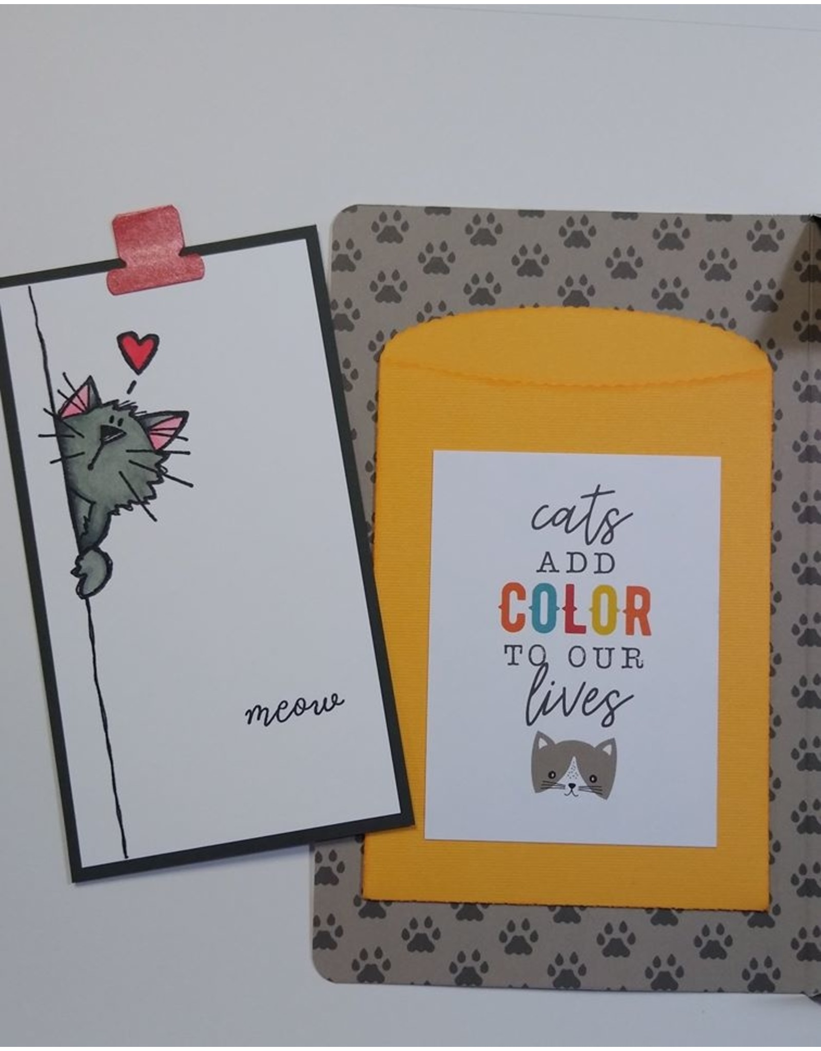 Impression Obsession Peek-A-Boo Kitty - Cling Stamp