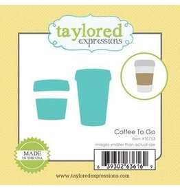 Taylored Expressions Little Bits Coffee To Go - Die