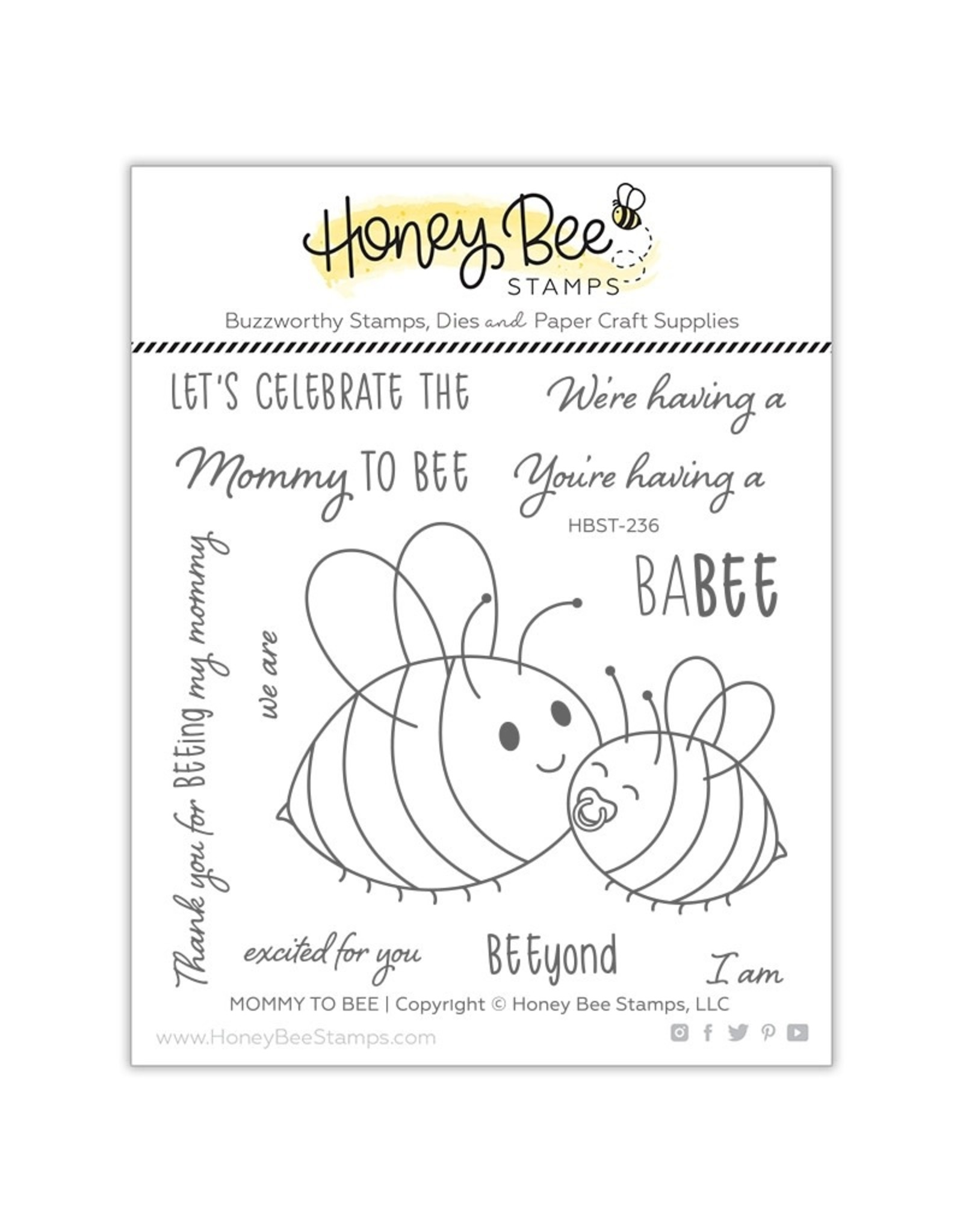 Honey Bee Stamps Mommy to Bee - Clear Stamp