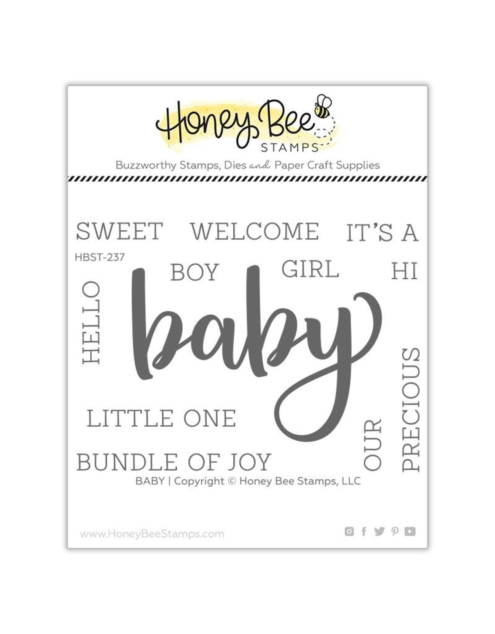 Honey Bee Stamps Baby - Clear Stamp Set