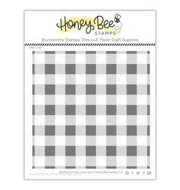 Honey Bee Stamps Buffalo Plaid - Clear Stamp