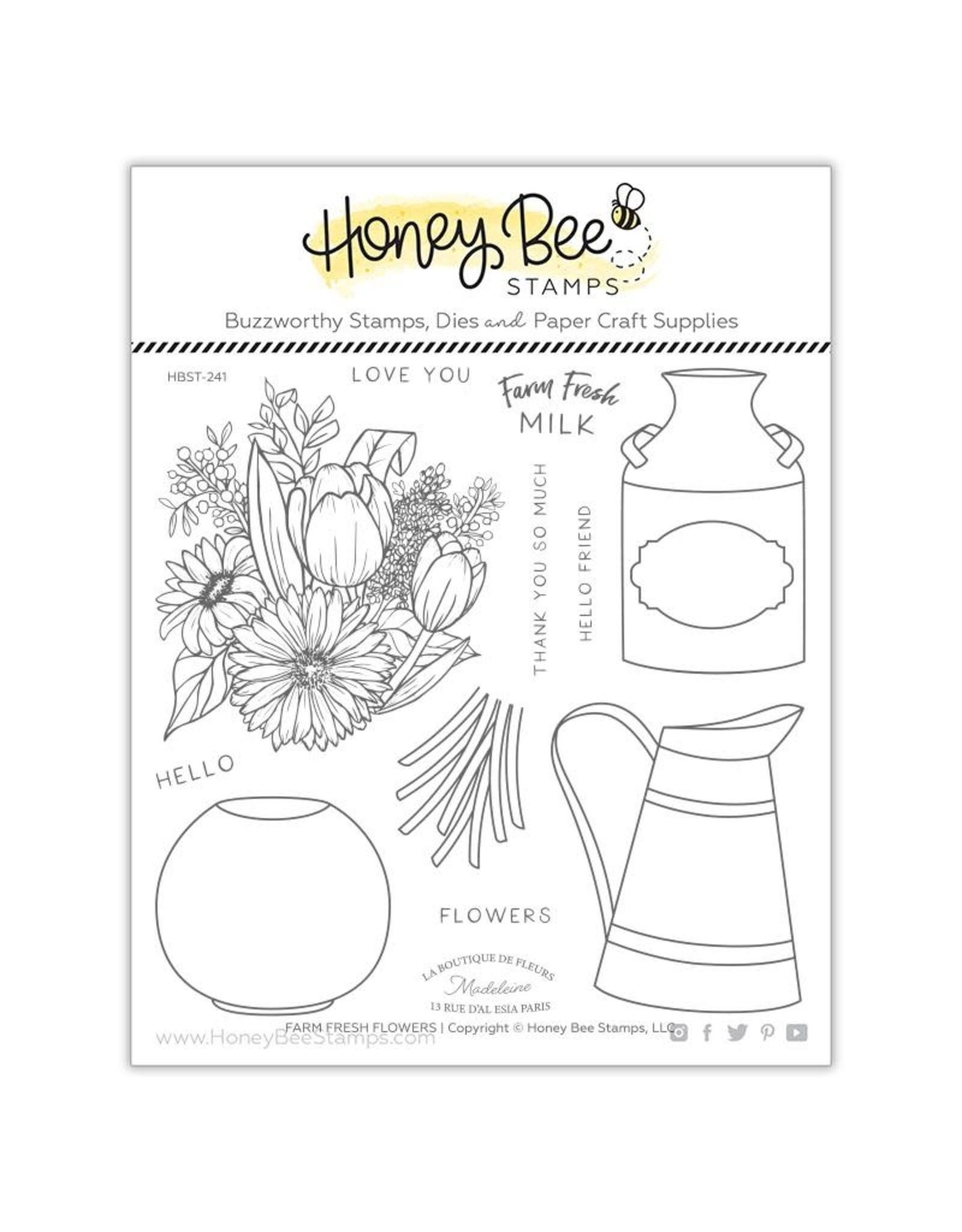 Honey Bee Stamps Farm Fresh Flowers - Clear Stamp Set