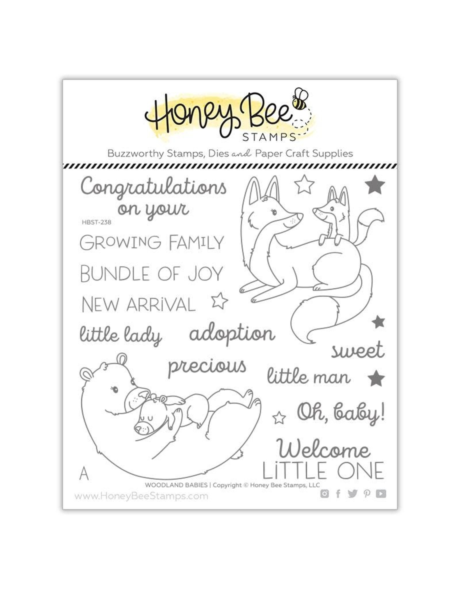 Honey Bee Stamps Woodland Babies - Clear Stamp Set