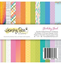 Honey Bee Stamps Birthday Bash - 6x6 Pad Double-Sided Premium Cardstock