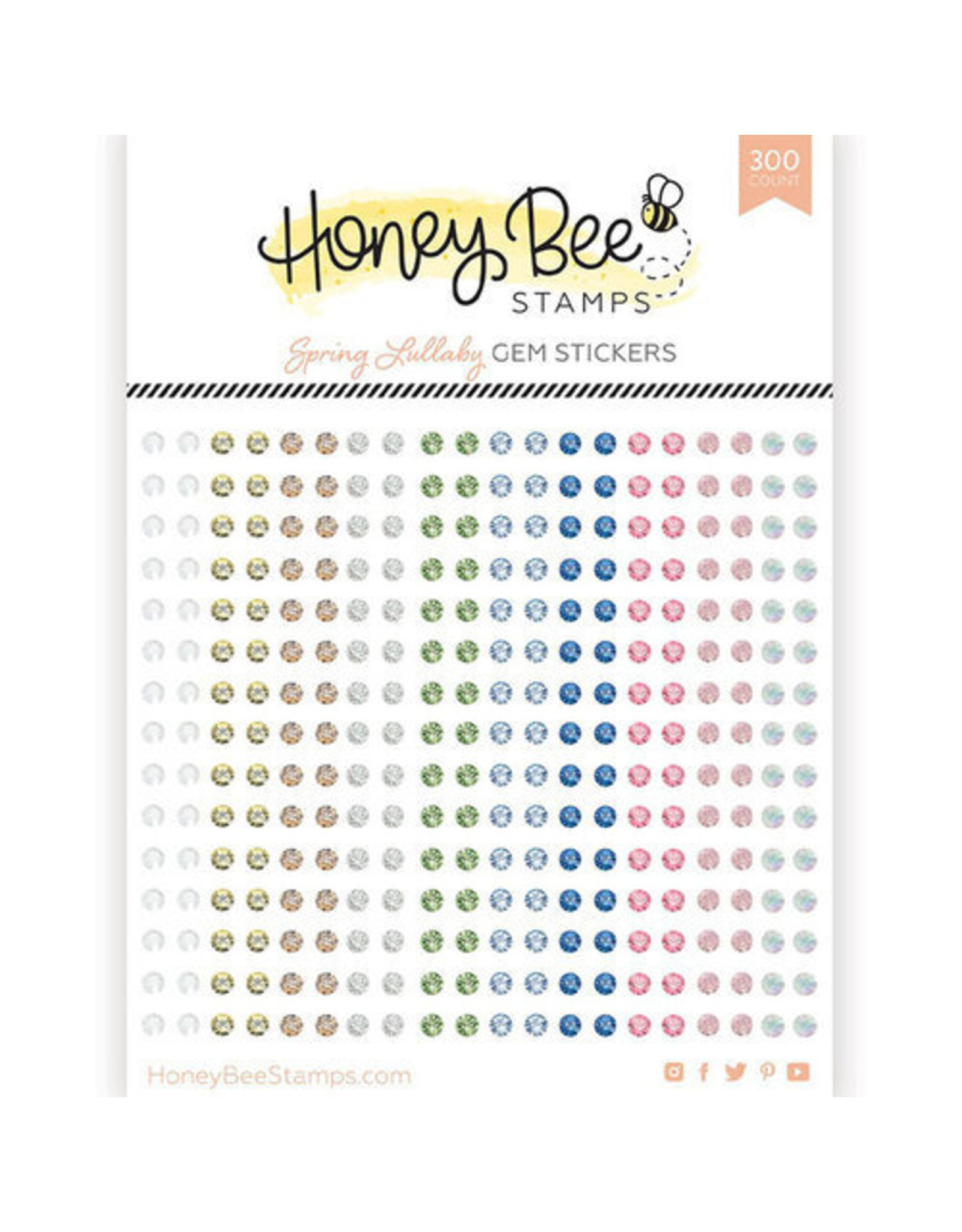 Honey Bee Stamps Gem Stickers - Spring Lullaby