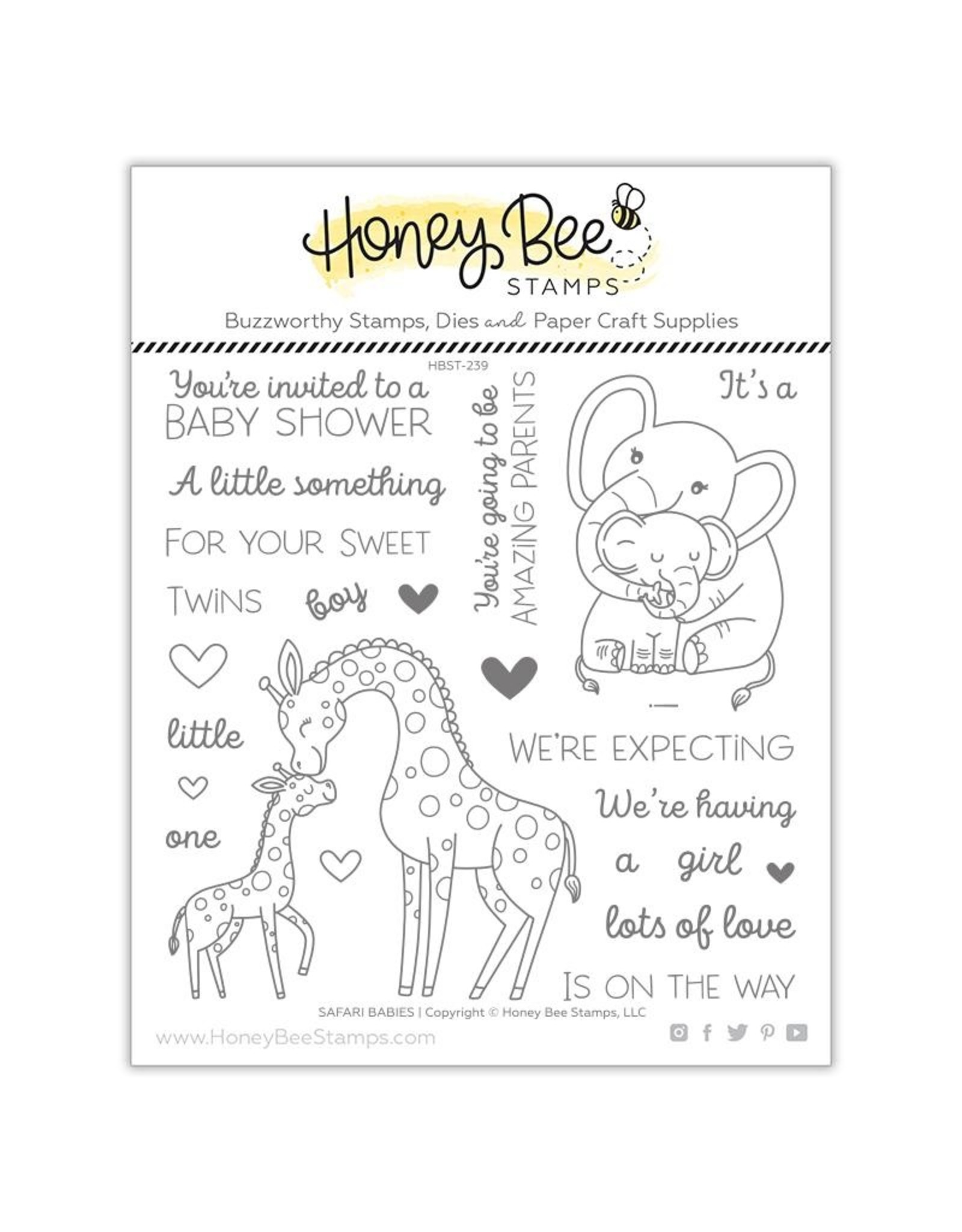 Honey Bee Stamps Safari Babies - Die Set