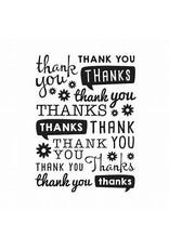 Thank You - Embossing Folder