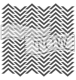 The Crafters Workshop Mini Chevron - 6x6 Stencil