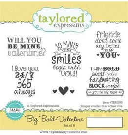 Taylored Expressions Big Bold Valentine - Cling Stamps (RETIRED) (25%)