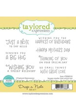 Taylored Expressions Drop a Note - Cling Stamp Set