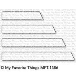 My Favorite Things Essential Slanted Sentiments Strips - Dies (RETIRED) (25%)