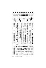 My Favorite Things Totally Happy - Clear Stamps (RETIRED) (25%)