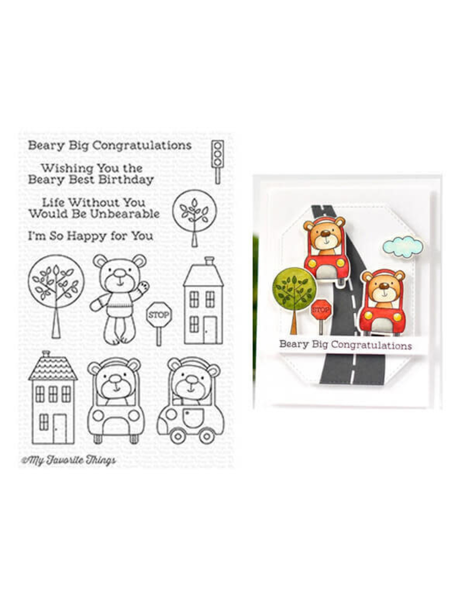 My Favorite Things Town Bear - Clear Stamp Set (RETIRED) (25%)