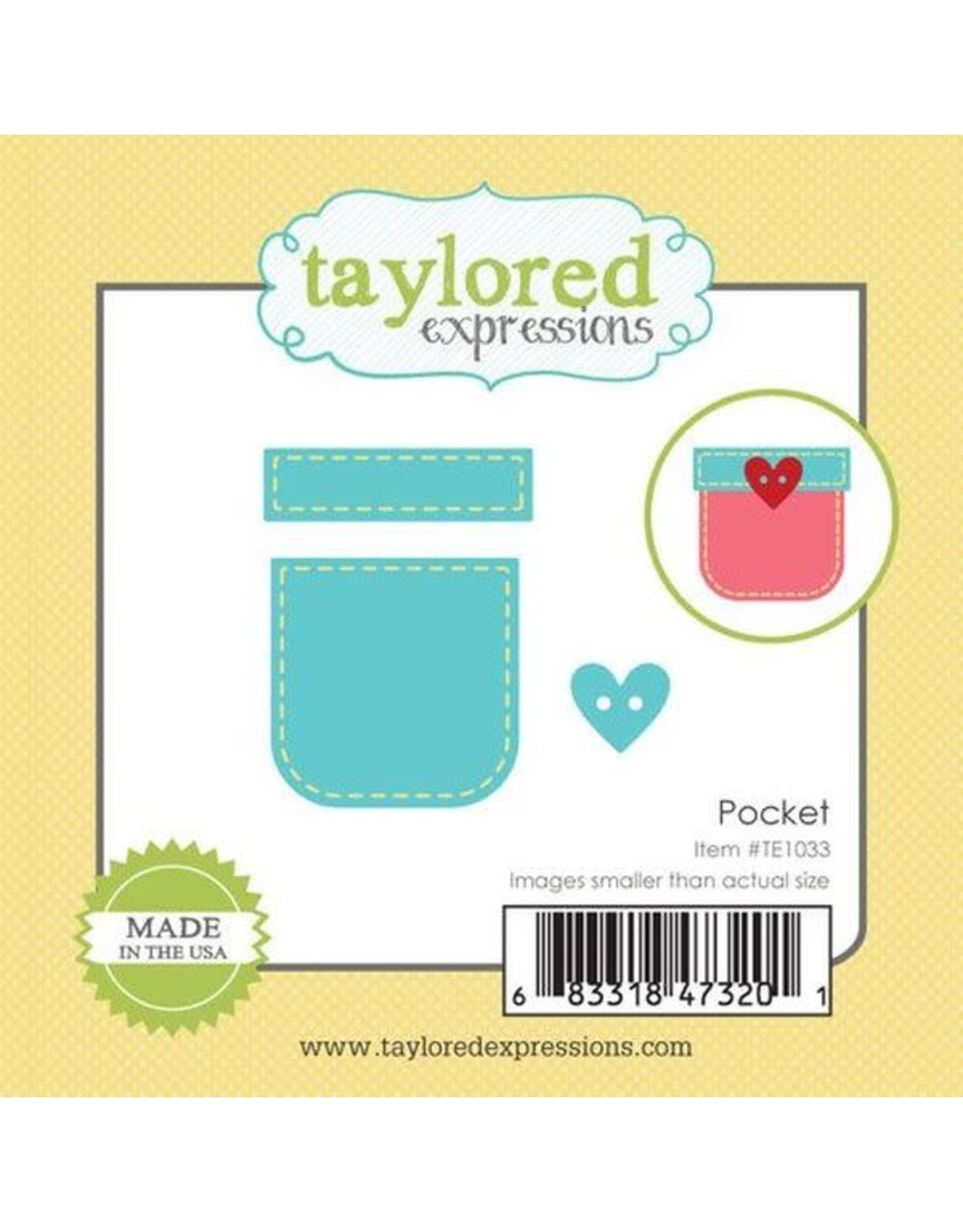 Taylored Expressions Little Bits Pocket - Die