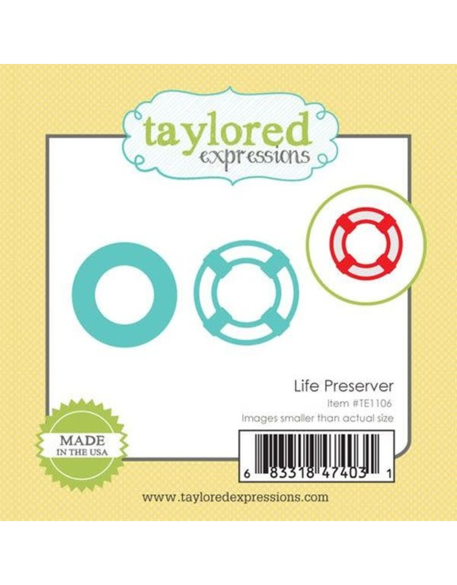 Taylored Expressions Little Bits  Life Preserver - Die