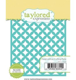 Taylored Expressions Floral Lattice Cutting Plate - Die (RETIRED) (25%)