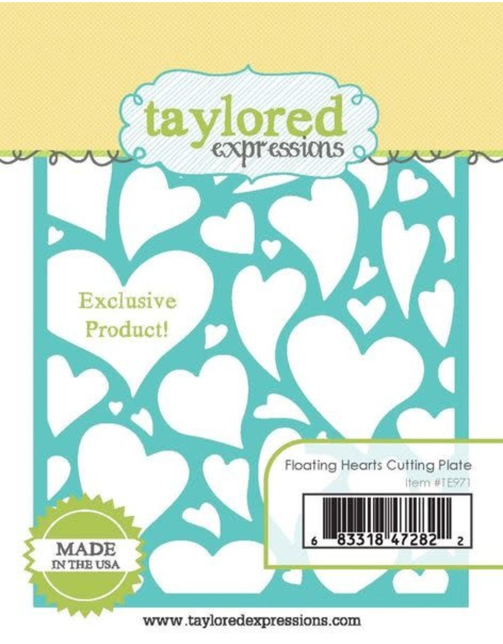 Taylored Expressions Floating Hearts Cutting Plate - Die