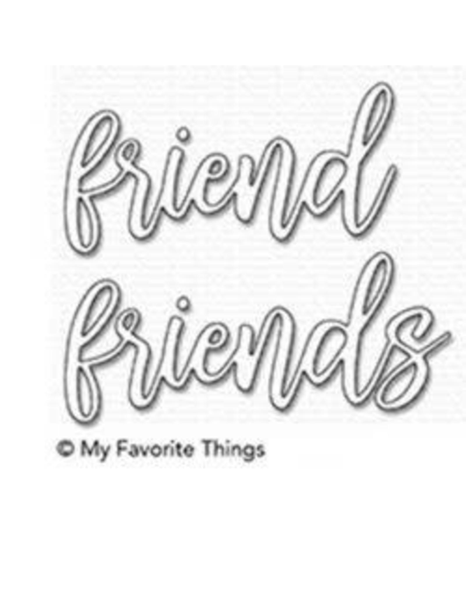 My Favorite Things Friend Duo Word - Die Set (RETIRED) (25%)