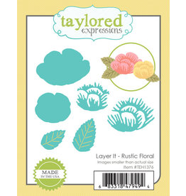 Taylored Expressions Layer It Rustic Floral - Dies