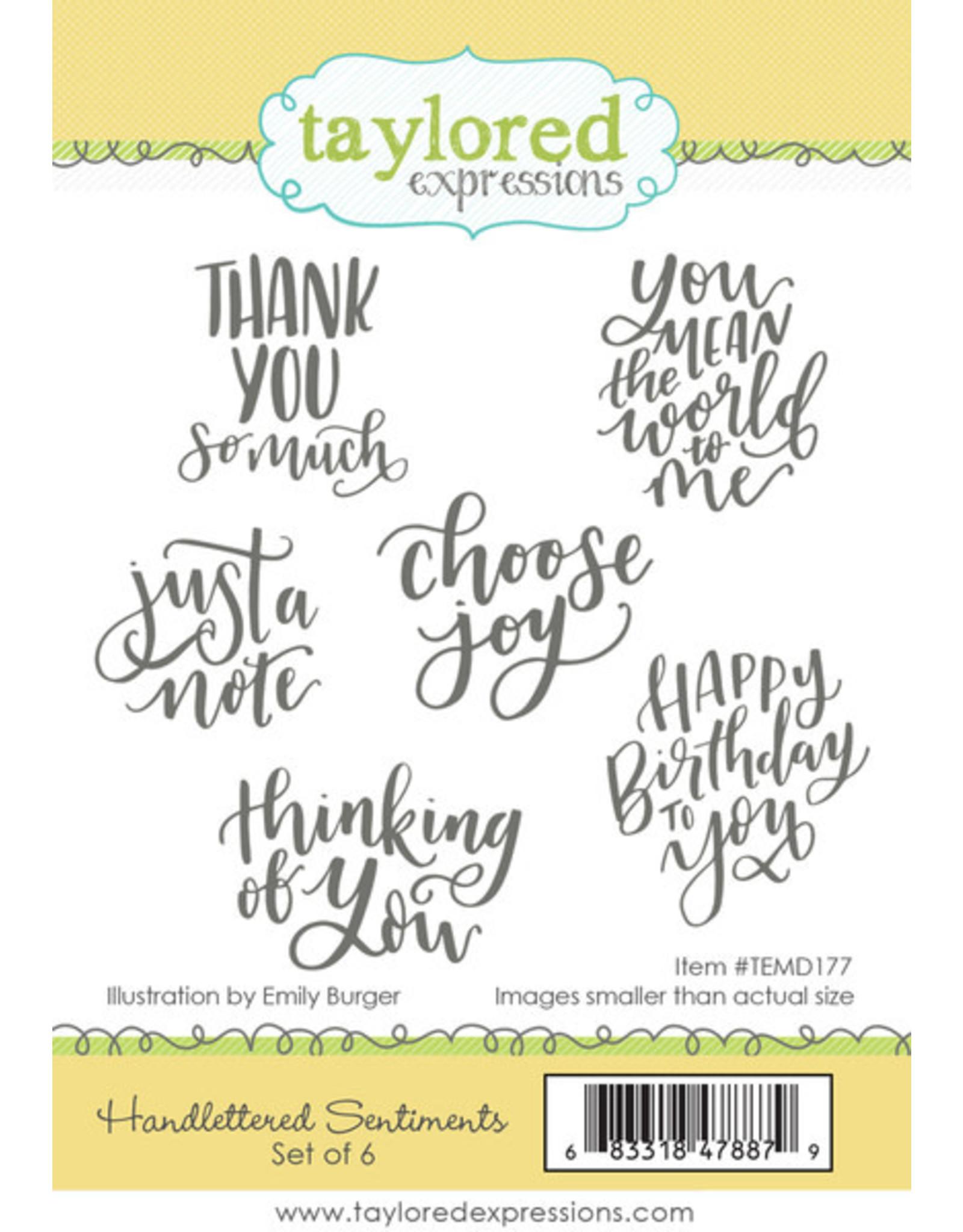 Handlettered Sentiments - Cling Stamp Set