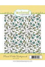 Floral Fields Background - Cling Stamp