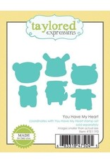 Taylored Expressions You Have My Heart - Cling Stamp Set