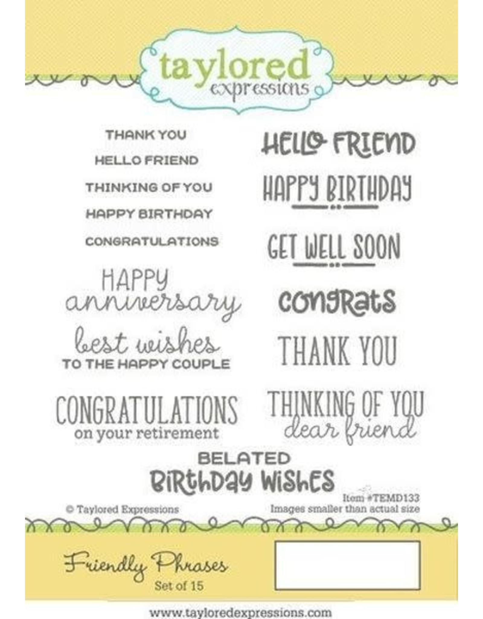 Friendly Phrases - Cling Stamp Set