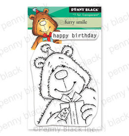 Penny Black Furry Smile Clear Stamps