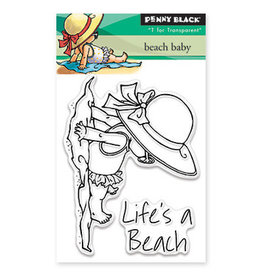 Penny Black Beach Baby Clear Stamps