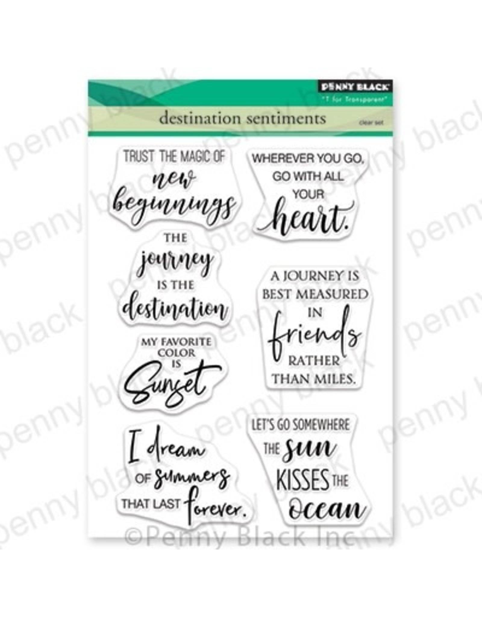 Penny Black Destination Sentiments - Clear Stamp Set