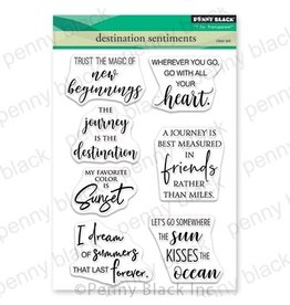 Penny Black Destination Sentiments - Clear Stamp Set