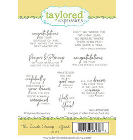 Taylored Expressions The Inside Scoop - Grad Cling Stamps