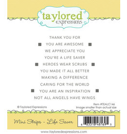 Taylored Expressions Mini Strips - Life Saver Cling Stamp