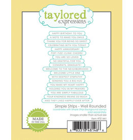 Taylored Expressions Simple Strips - Well Rounded Die