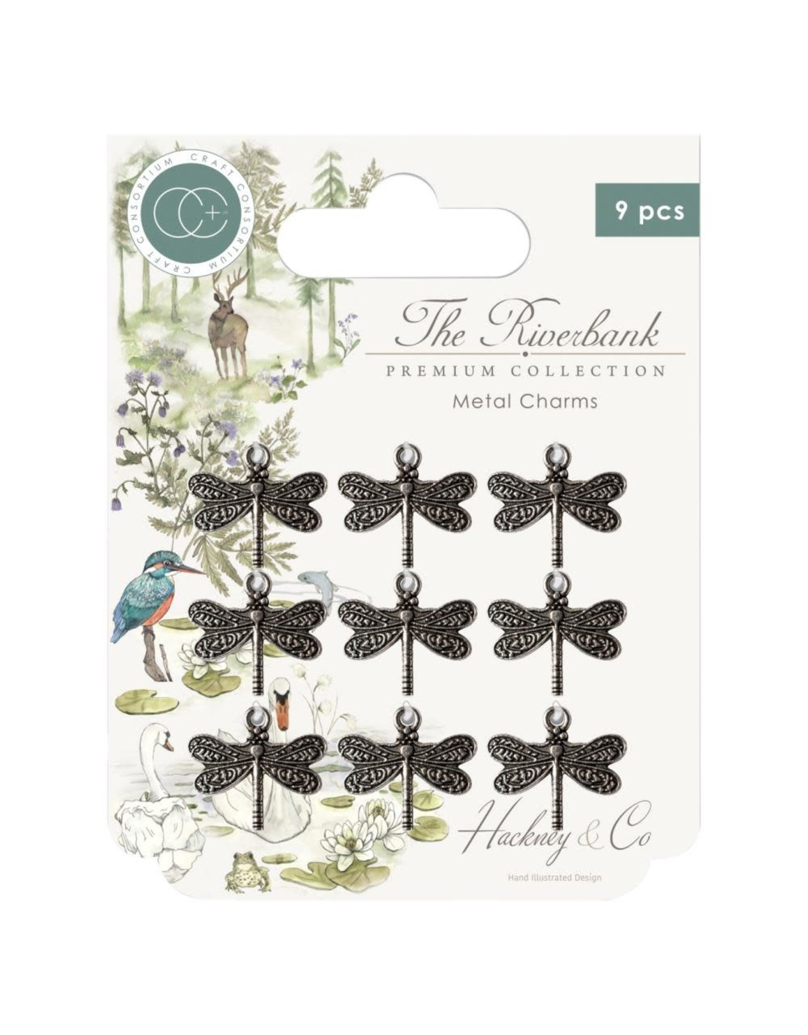 Craft Consortium The Riverbank Dragonfly Metal Charms