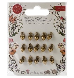 Craft Consortium Winter Wonderland Acorn Metal Charms