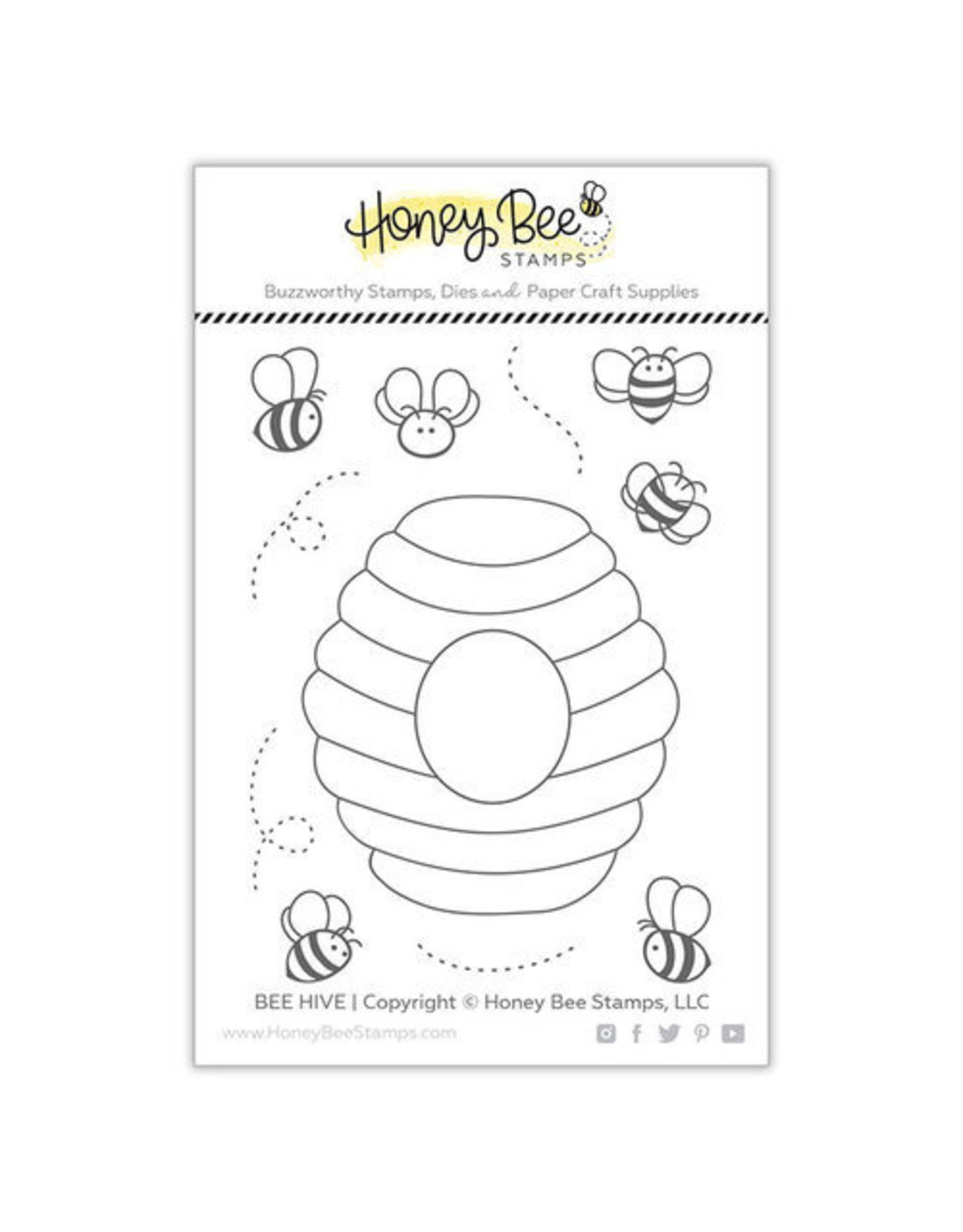 Honey Bee Stamps Bee Hive - Clear Stamp Set