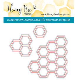 Honey Bee Stamps Hexagon Bunches Honey Cuts Dies