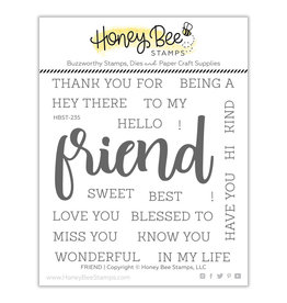 Honey Bee Stamps Friend Clear Stamp Set