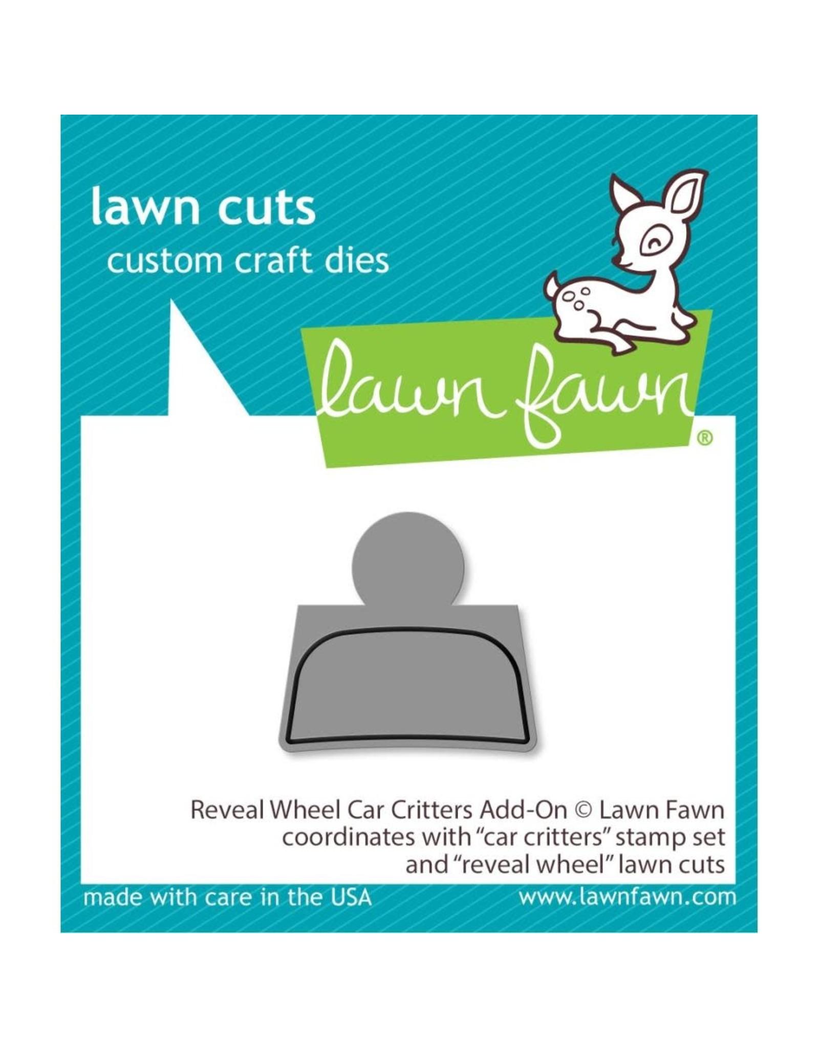 Lawn Fawn Reveal Wheel Car Critters - Add-on Die