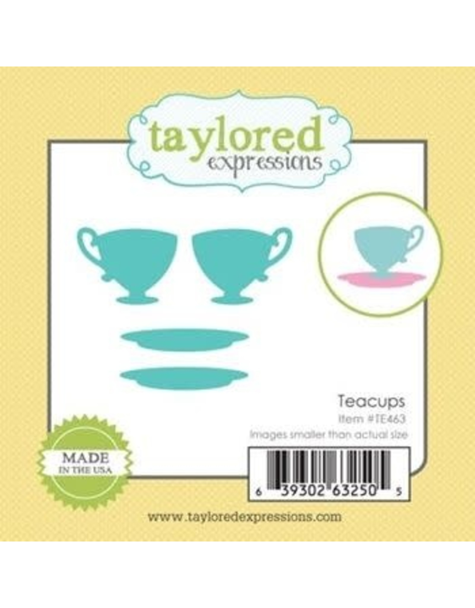 Taylored Expressions Little Bits Teacups - Die