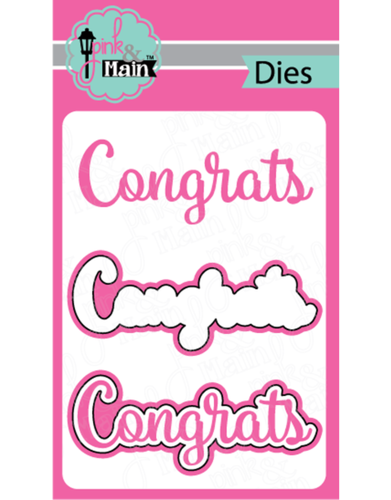 Pink and Main Congrats - Clear Stamp Set