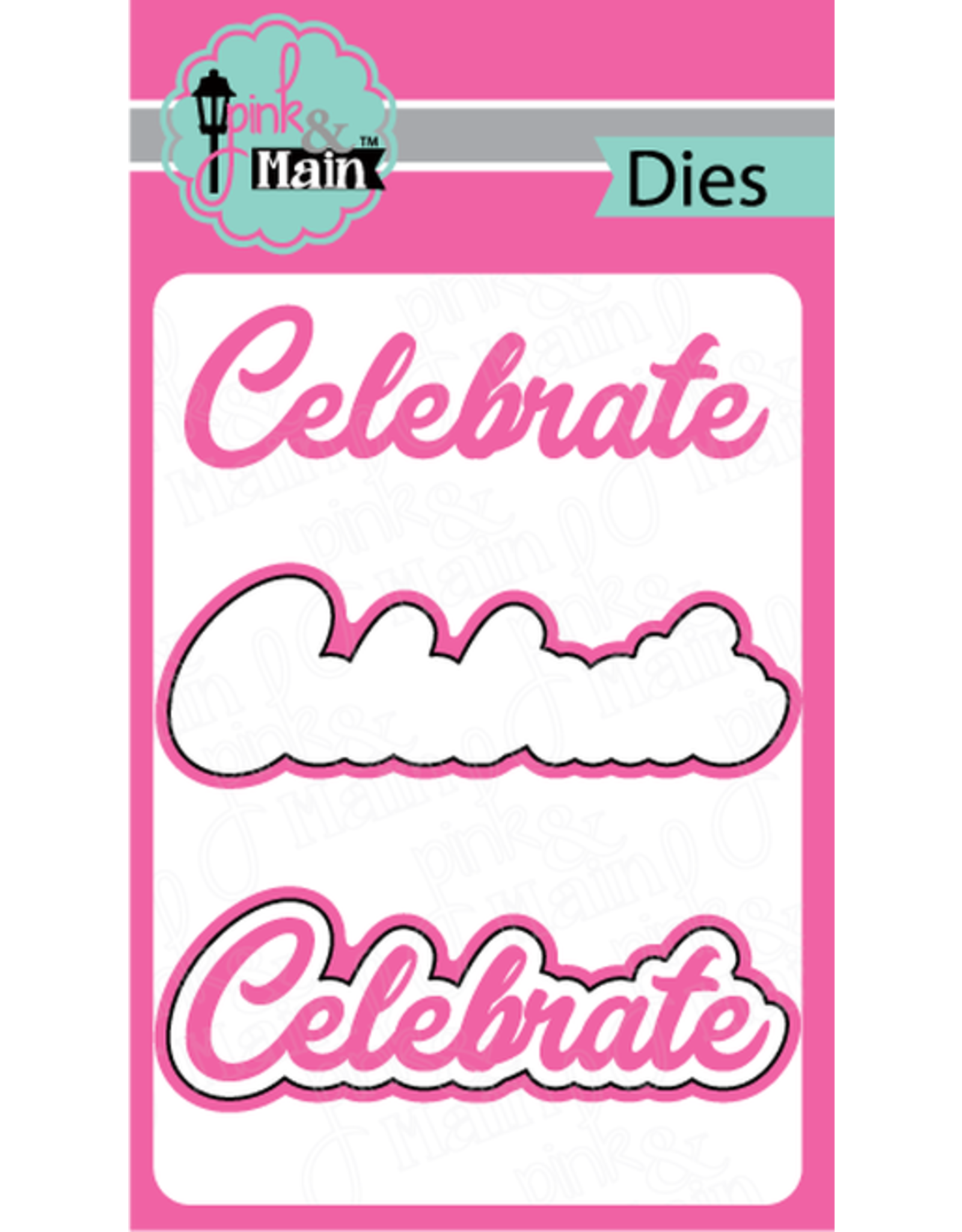 Pink and Main Celebrate - Clear Stamp Set